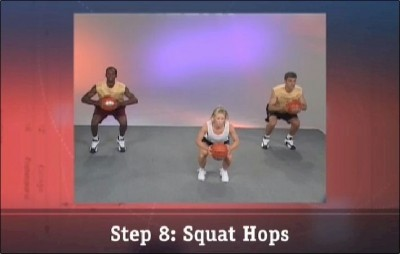 Step 8: Squat Hops